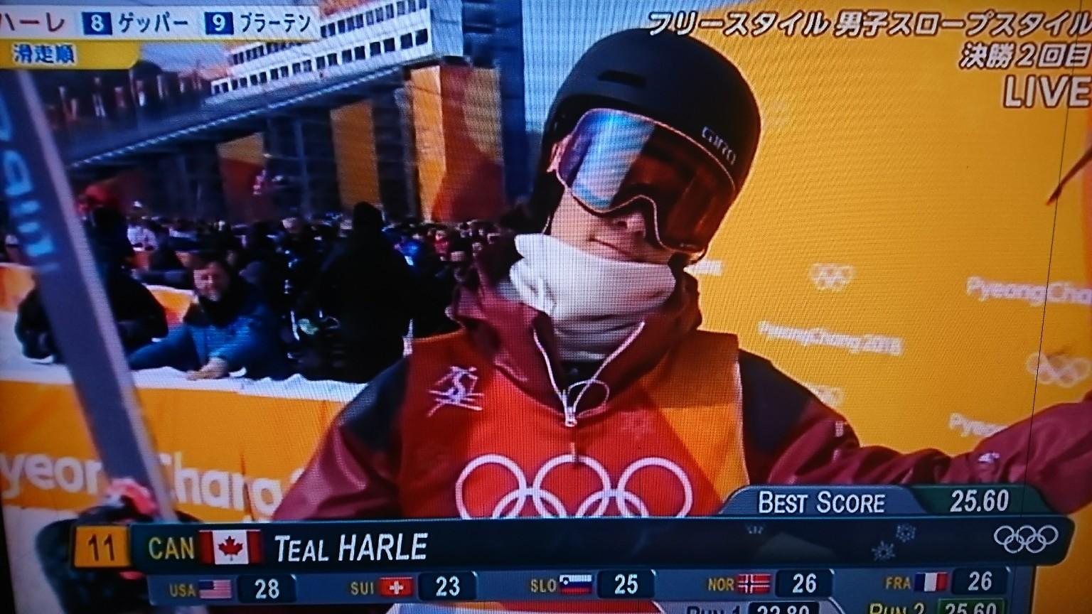 平昌オリンピック フリースタイルスキー男子スロープスタイル決勝2本目の速報!!