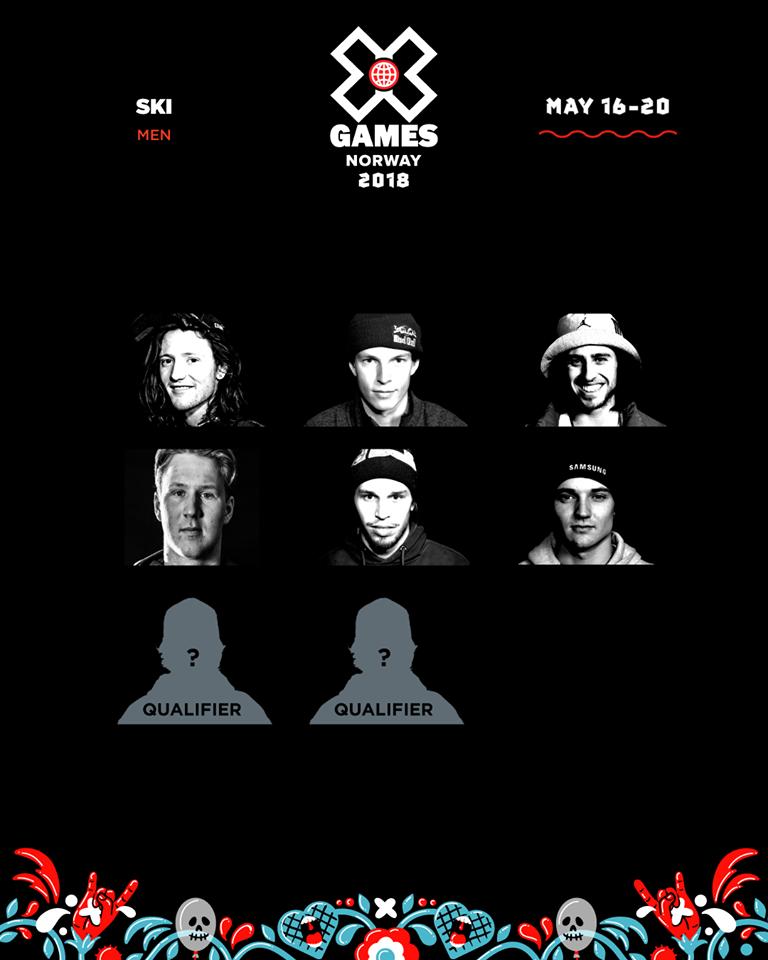 5月に行われるX Games Norwayの招待選手が発表!!