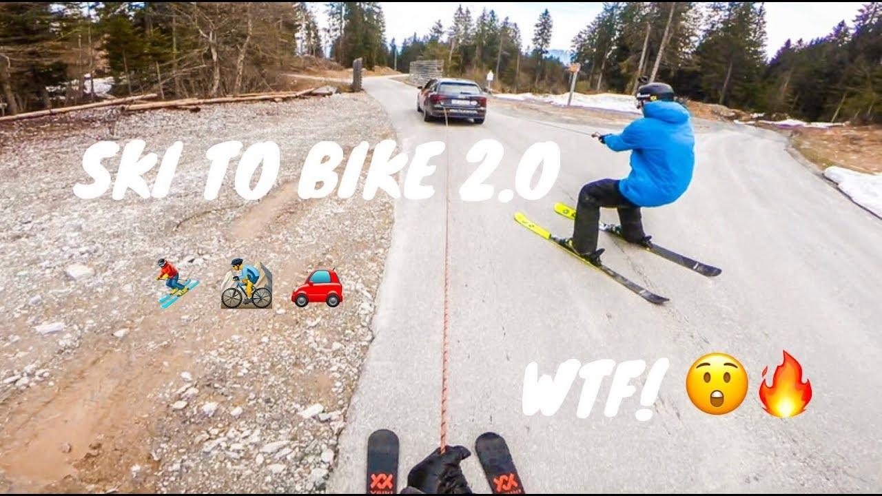今度はアンドリ・ラゲットリがやった!! クレイジーな一本撮り スキー&自転車!!
